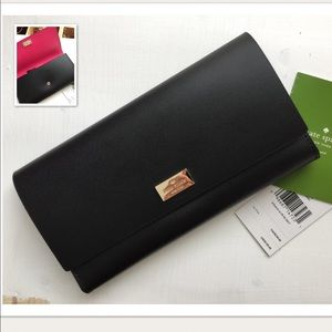Authentic black and pick Kate Spade Wallet